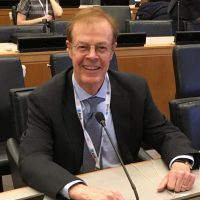 William Bierce as lecturer, NGO representative at UN (UNCITRAL), advisor on business and technology transactions